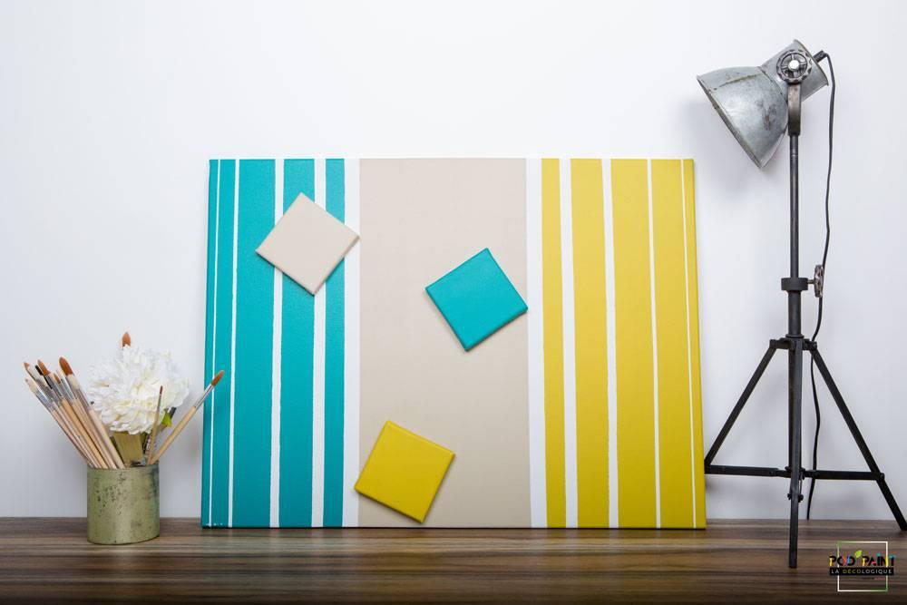 peinture mate bleu beige jaune podpaint