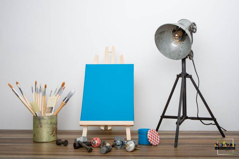 peinture mate bleu éclatante méditerranée