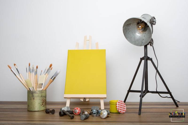 peinture mate jaune feuille or