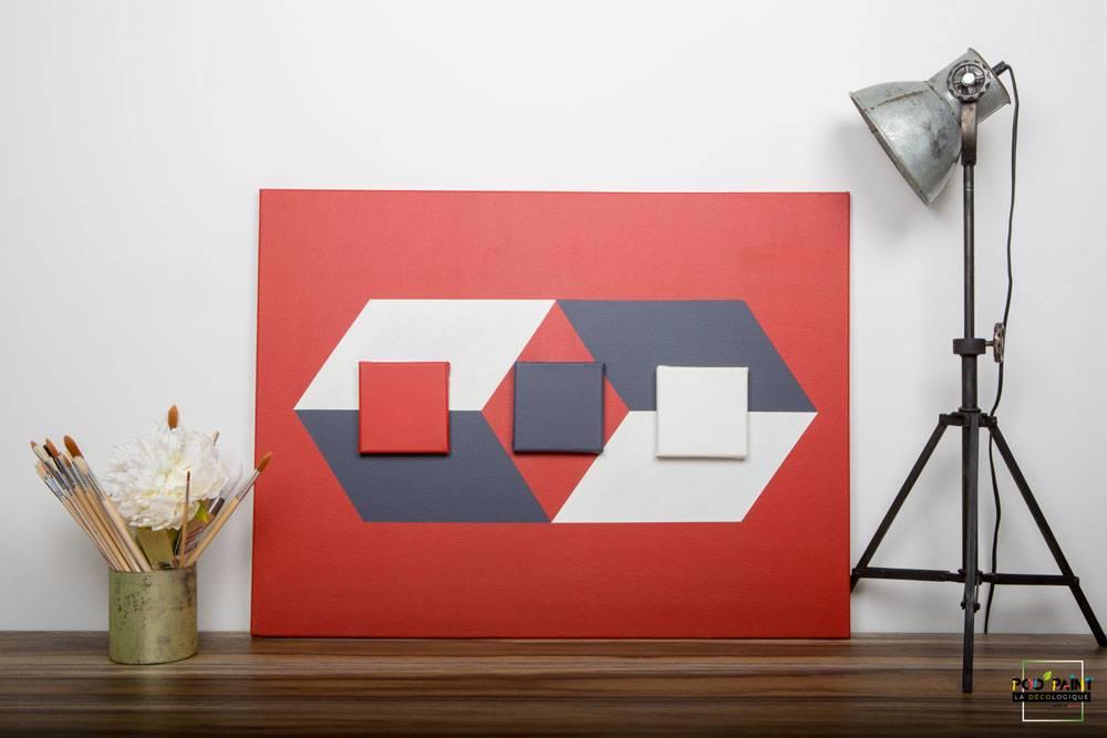 peinture mate rouge gris blanc podpaint