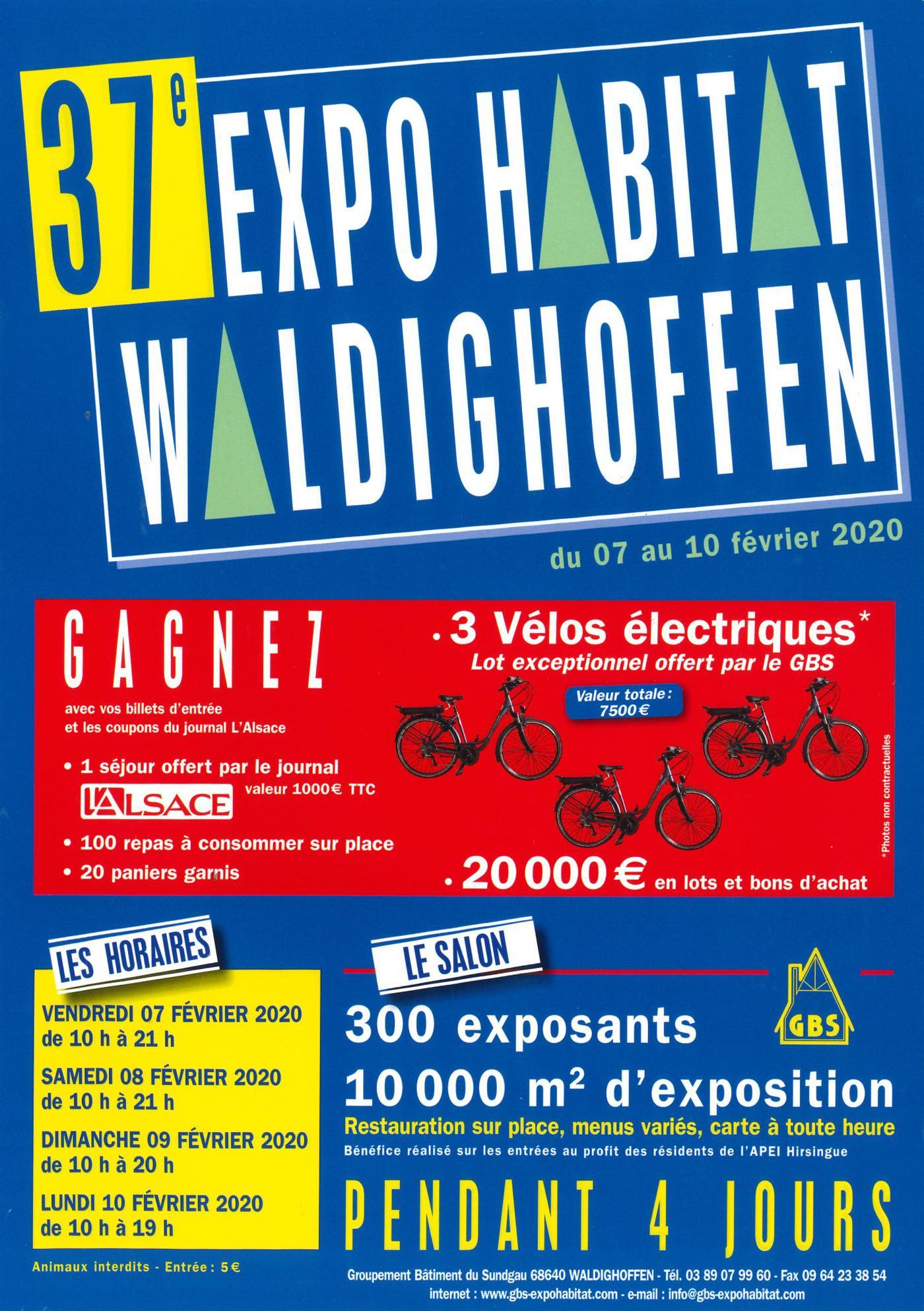 Affiche de la 37e expo habitat à Waldighoffen