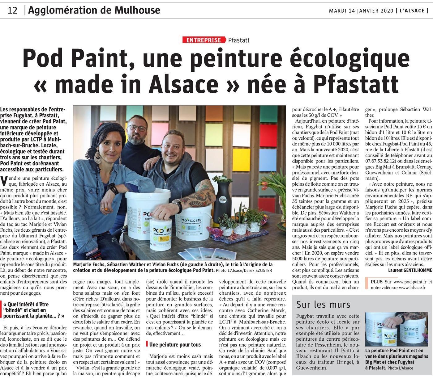 Peinture Made in Alsace - journal du 14/01/2020
