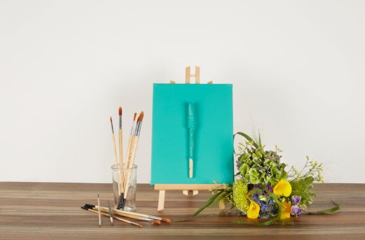 peinture mate bleu vert scintillante aventurine
