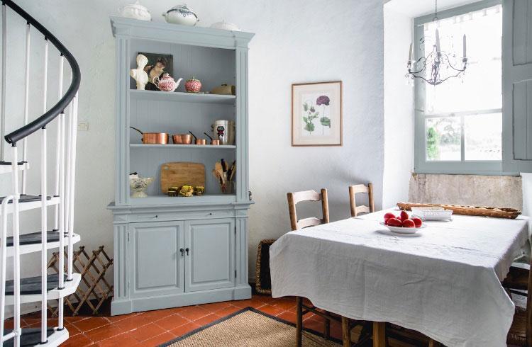 Peinture mate bleu cuisine Lyrique Célestine