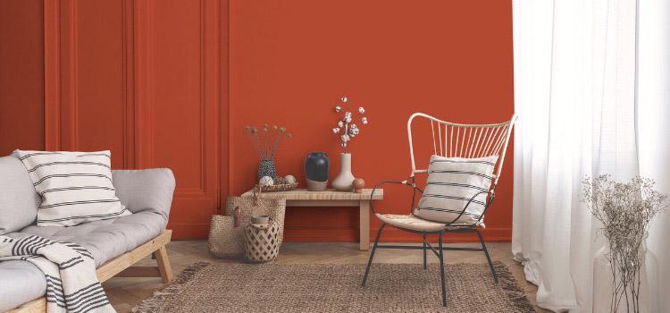 Peinture brun salon plaisir de jaspe