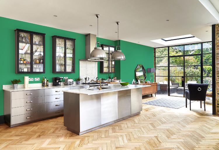 Décoration intérieur peinture vert béguin de jade