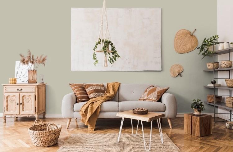 Peinture intérieur séjour vert émoustillante agate