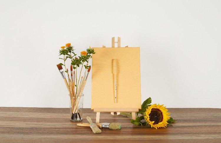 Peinture mate jaune beige Crépuscule de Cornaline