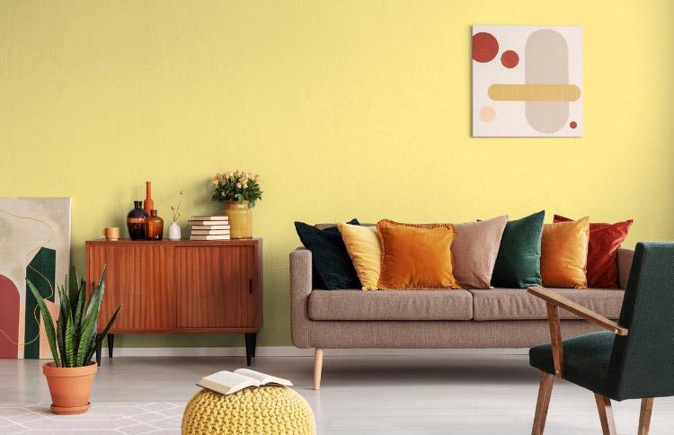 Peinture mate mur réveil de citrine