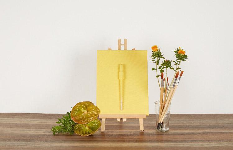 Peinture mate jaune réveil de citrine