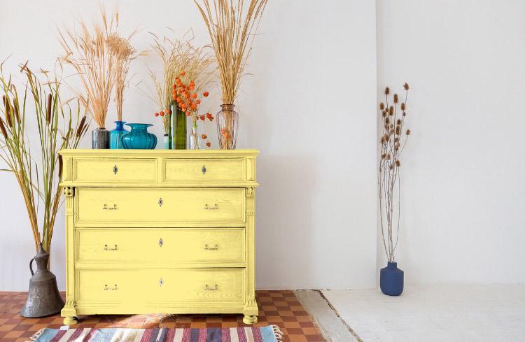 Peinture meuble décoration réveil de citrine