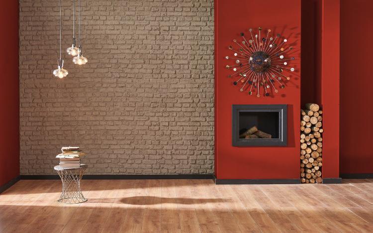 Peinture mate marron rouge Taureau Andalou