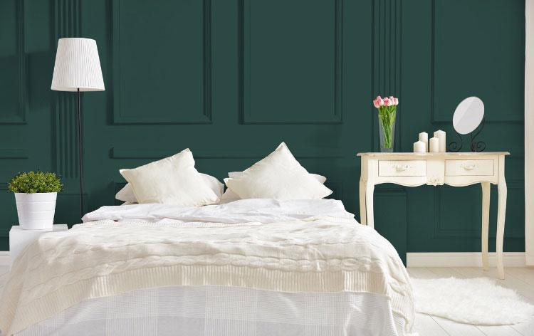 Peinture vert mur décoration Fleur de Malachite