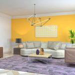 Décoration peinture jaune vif