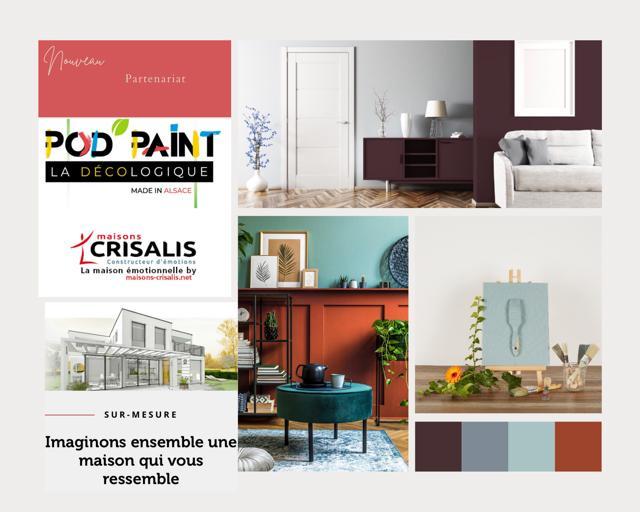 Partenariat Pod'paint et Maisons Crisalis