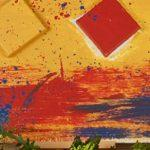 Tanleau inspiration peinture rouge jaune bleu