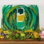 Peinture écologique mate vert or