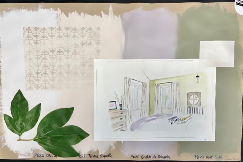 Association de teintes pour chambre Pod'Paint